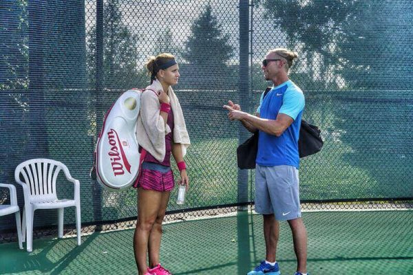 Lucie and Coach Rob Steckley split