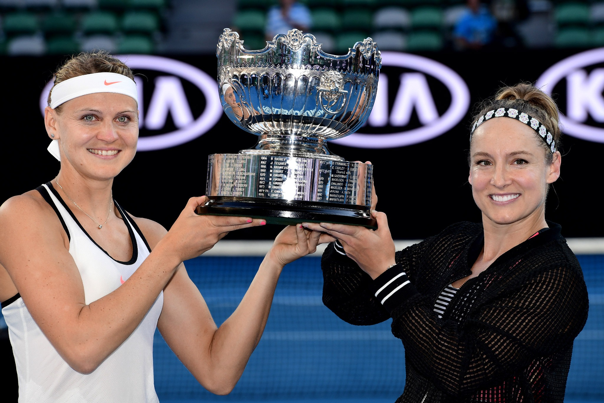 Lucie Safarova and Bethanie Mattek-Sands win the Australian Open