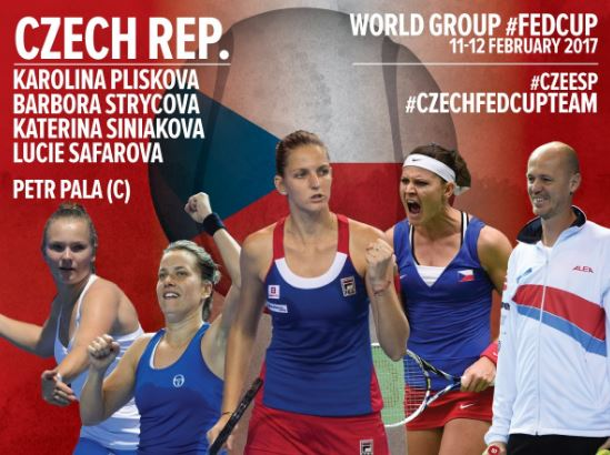 Lucie Safarova joins the Czech Fed Cup Team against Spain