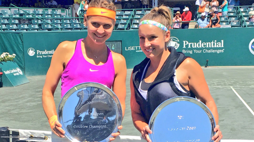 Lucie Safarova and Bethanie Mattek-Sands just won their 10th title together in Charleston. They defeated the Czech pair Hradecka and Siniakova