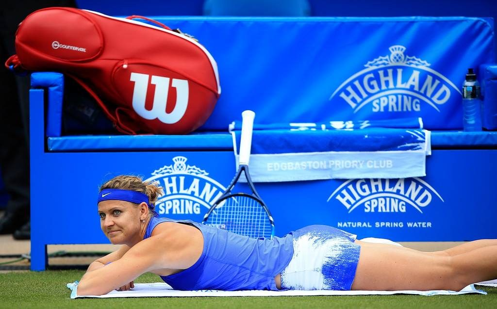 leg injury for Lucie Safarova, medical timeout in Birmingham