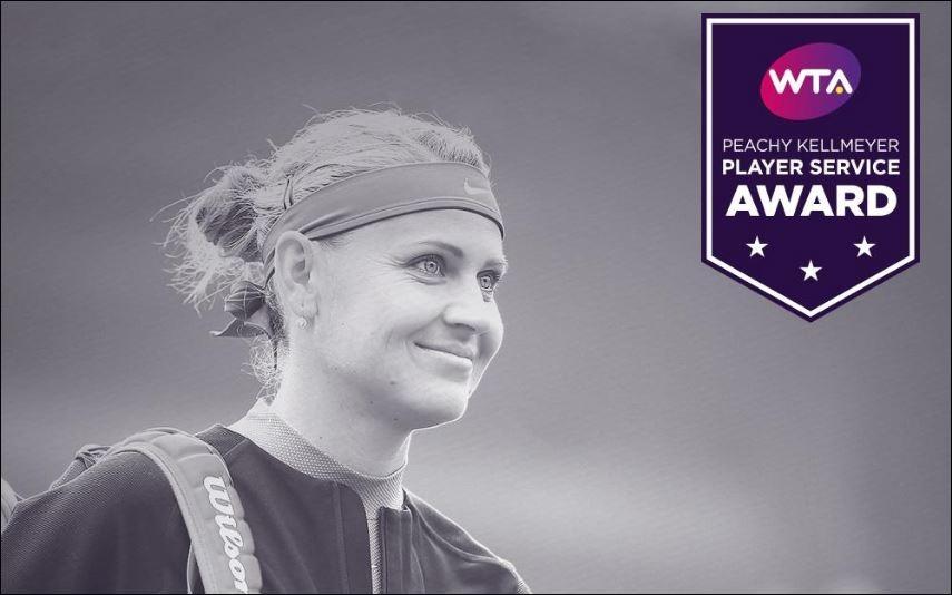 4th Peachy Kellmeyer Player Service Award for Lucie Safarova