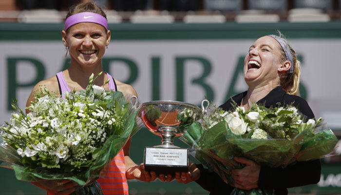 Lucie Safarova and Bethanie Mattek-Sands win their second Grand Slam at the French Open