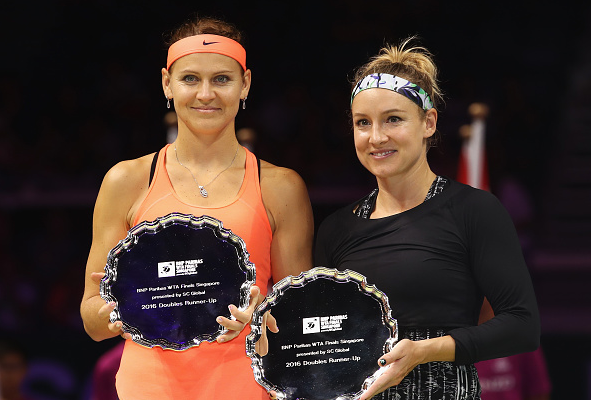ucie Safarova and Bethanie Mattek-Sands end 2016 as WTA finals runners-up.