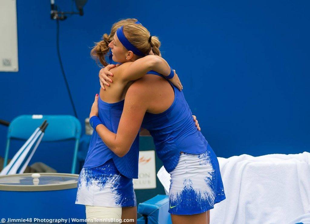 Lucie Safarova retires in Birmingham against Petra Kvitova
