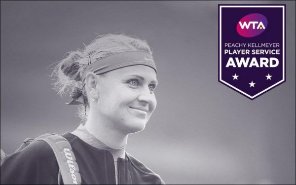 4th Peachy Kellmeyer Player Service Award for Lucie Safarova