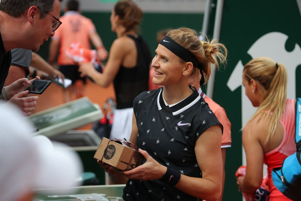 Lucie Safarova plays her last career match in Roland Garros