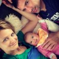 Lucie Safarova with her partner Tomas Plekanec and their daugther Lea